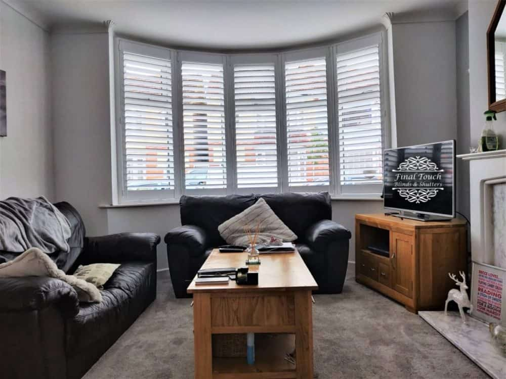Curved Bay Shutters Portsmouth