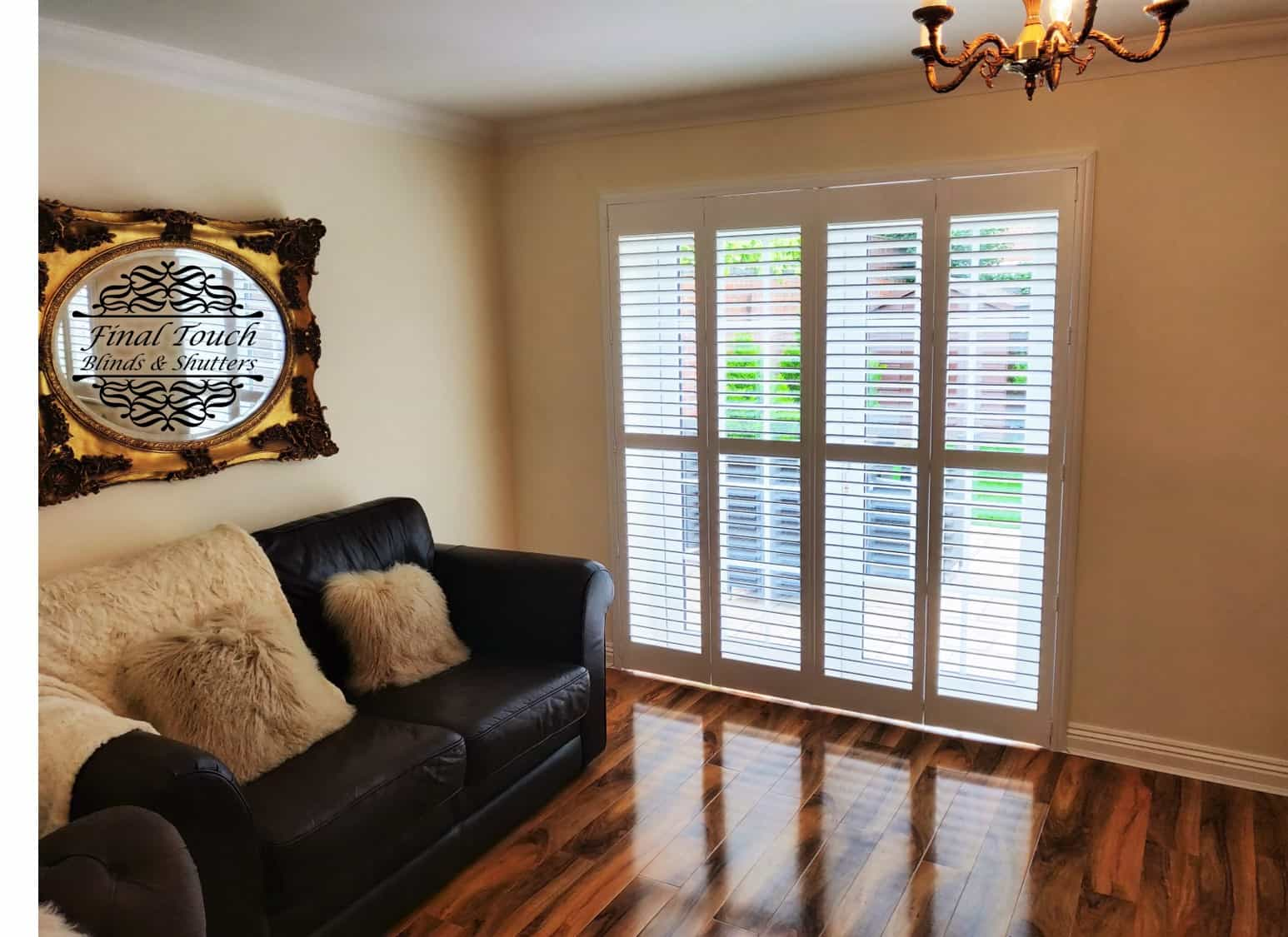 Track plantation shutters in southampton west end