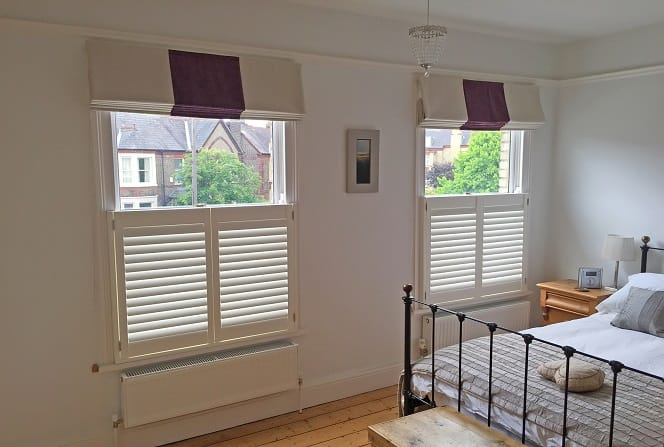 Cafe style Plantation Shutters Hedge End