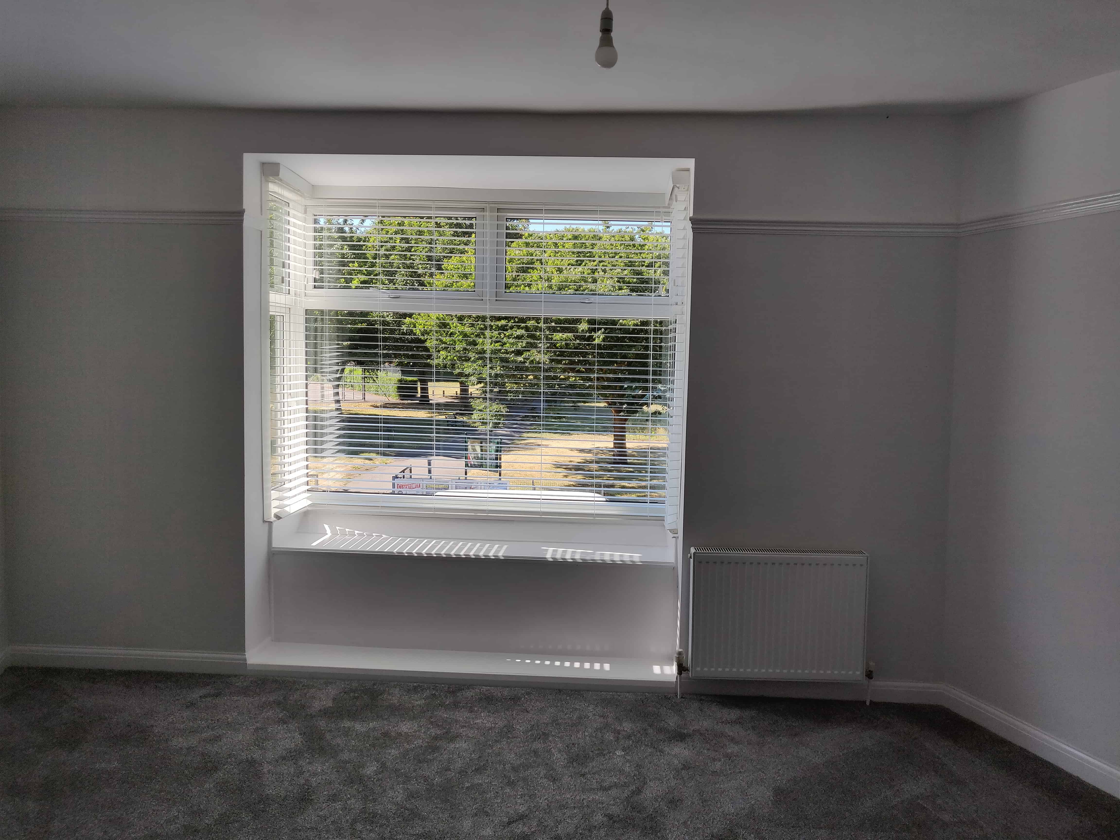 Venetian blinds bay window fareham southampton