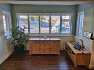 Large window treatments plantation shutters fareham