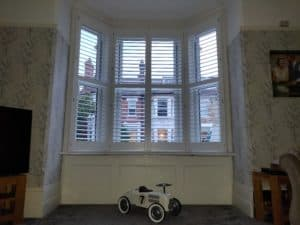 Large bay window plantation window shutters southsea portsmouth